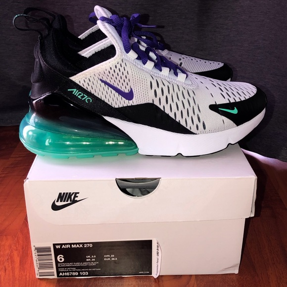 "Women's Nike Air Max 270 ""Grape</p>                     </div> 		  <!--bof Product URL --> 										<!--eof Product URL --> 					<!--bof Quantity Discounts table --> 											<!--eof Quantity Discounts table --> 				</div> 				                       			</dd> 						<dt class="